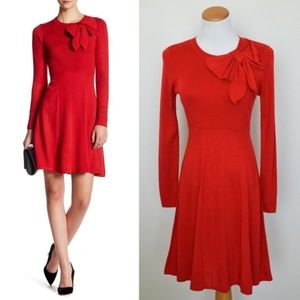 Eliza J Red Bow Sweater Dress